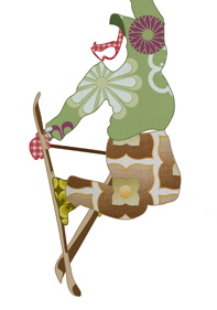 ski freestyle illustration